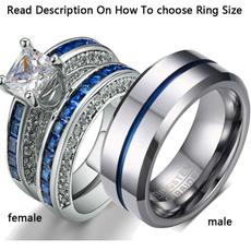Couple Rings, bridalring, Stainless Steel, wedding ring