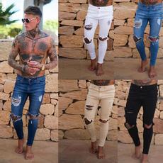 holesdenimpant, Plus Size, Winter, men's jeans