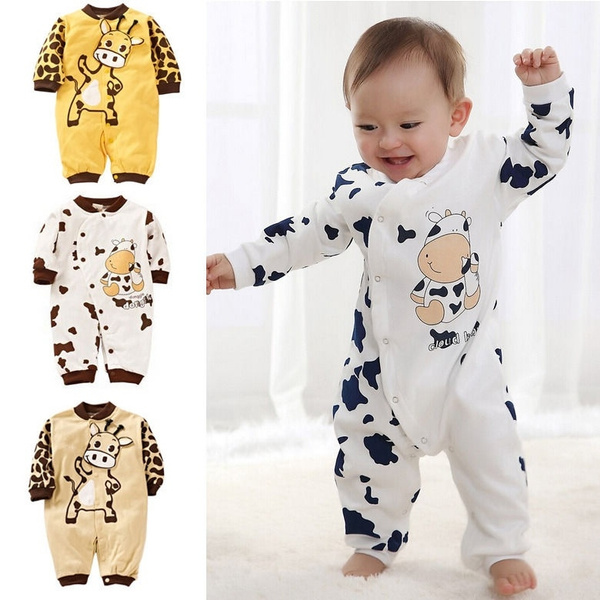jumpsuit, babyromper, cow, Girls' Clothing (Newborn-5T)
