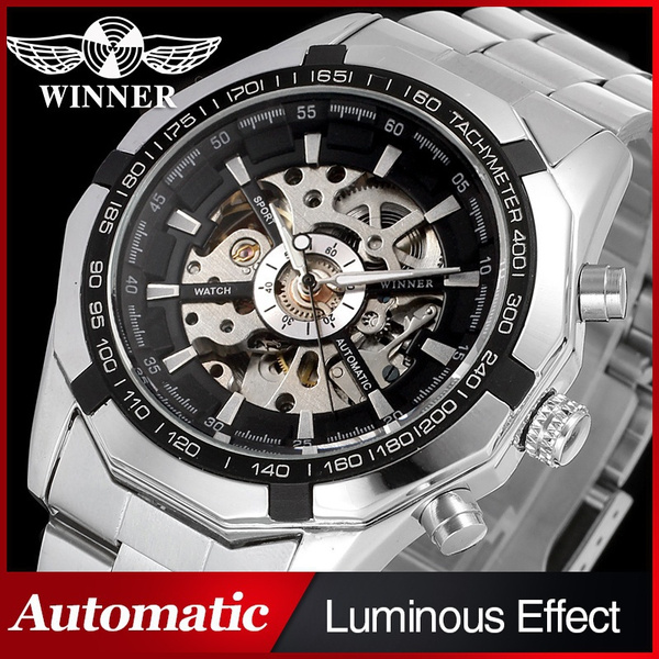 relojesparahombre, aceroinoxidable, relojesmecánico, relojdepulsera