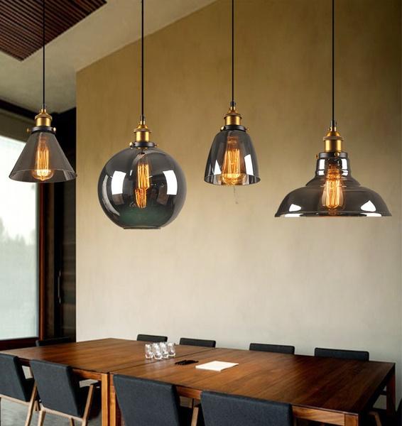 Vintage, Home Decor, ceilingpendantfixture, glasspendantlighting