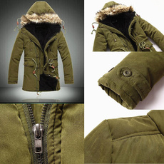 hooded, Winter, collectwaist, Military