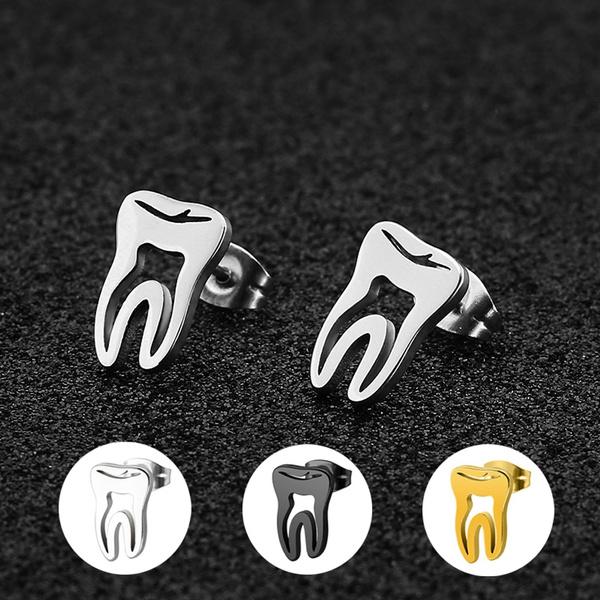 Steel, steelbodyjewelry, Stainless Steel, toothshaped