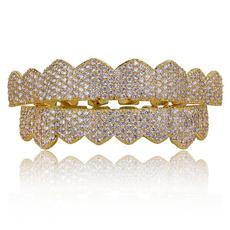 Cubic Zirconia, hip hop jewelry, topbottomgrillz, gold