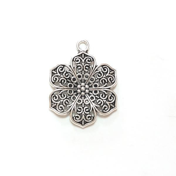 Necklace, Flowers, mental, Earring