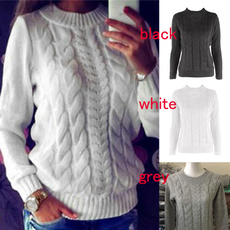 casual coat, Fashion, Winter, pulloverbraided