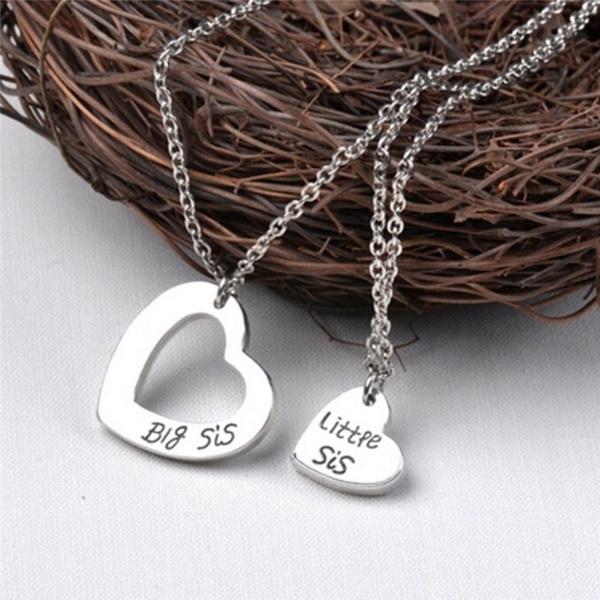 bigsisterlittlesister, Jewelry, sistersgift, Necklaces Pendants
