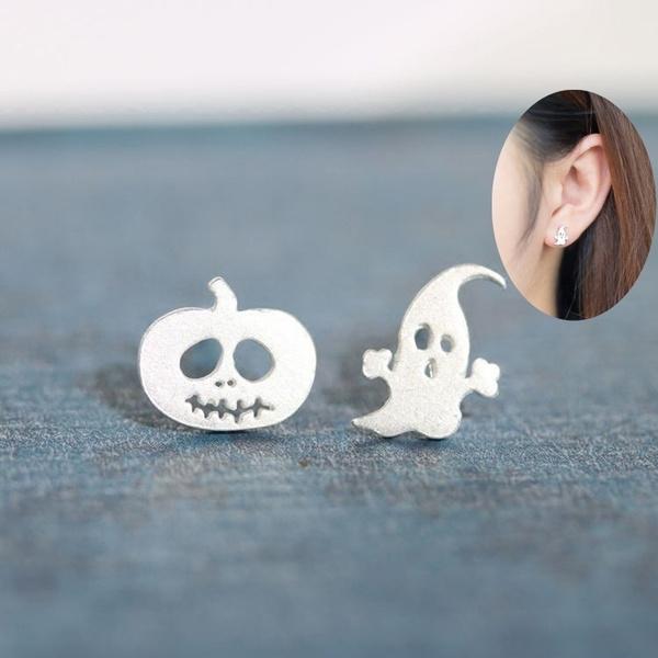ghost, Sterling, Jewelry, Stud Earring