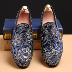 casual shoes, embroideryshoe, Flats shoes, Suede