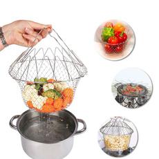 Kitchen & Dining, meshbasket, steamrinsestrainchef, Baskets