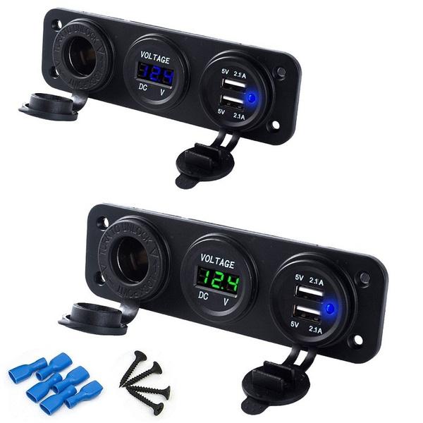 voltmetersocket, Connectors & Adapters, usb, Cars