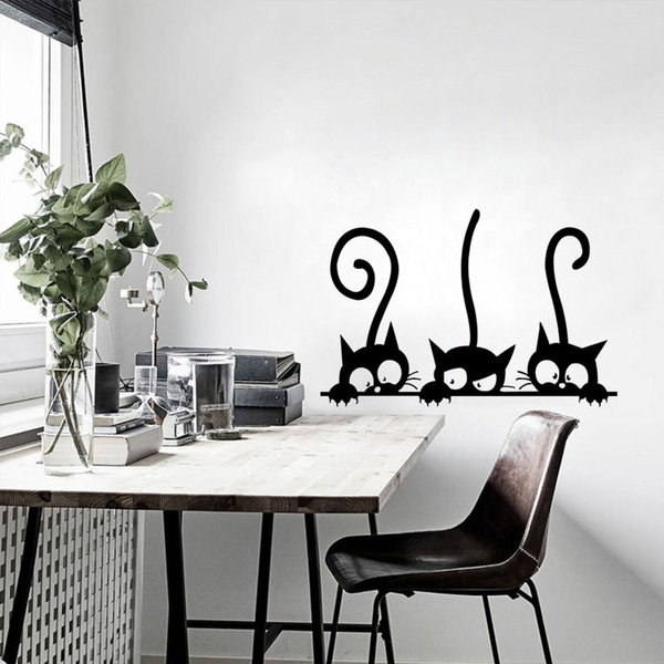 cute, Home Decor, Stickers, cartooncat