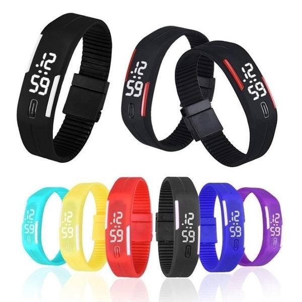 LED Watch, digitalwatche, silicone watch, Wristbands