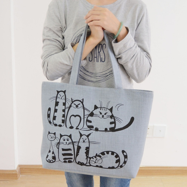 women bags, zipperbag, cartoonbag, Canvas