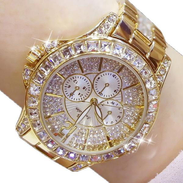 goldplated, DIAMOND, Dress Watches, Jewelry