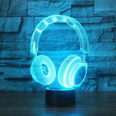 Dj, Headset, Lighting, Earphone