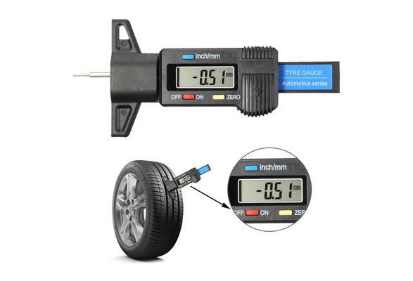 WEI-LUONG tools Digital Depth Gauge Tyre Tread Brake Shoe Pad Wear Caliper Micrometer LCD Display Tyre Tire Tread Depth Brake Pad Wear Shoe Micrometer
