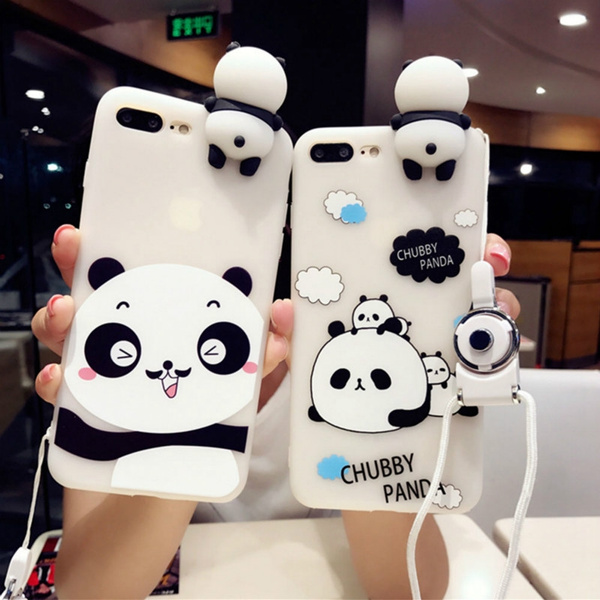 3D Cute Panda Cases For Iphone 7 7 8 Plus 6s 6 Plus Case Lovely Toy Panda Cover Silicon Transparent For Iphone 7 8 Case   Wish