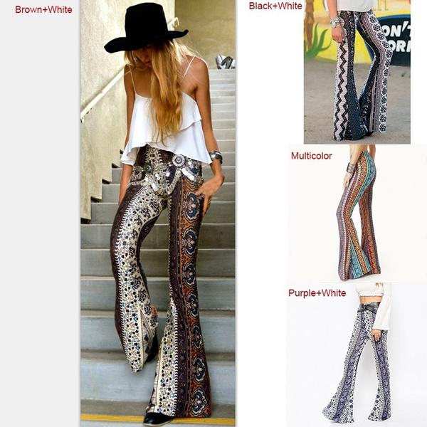 printingpant, Leggings, womenbellbottom, wideleg