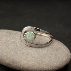 fireopalring, Antique, Silver Jewelry, DIAMOND