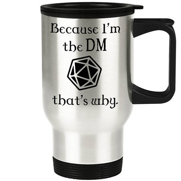Steel, Funny, Kitchen & Dining, dndcarcup