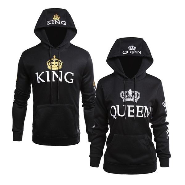 Couple Hoodies, King, Fashion, Queen