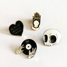 Mini, brooches, Gifts, skull