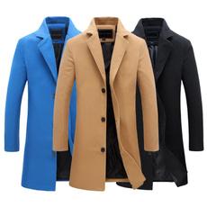 slimovercoat, menlongjacket, Plus Size, Winter