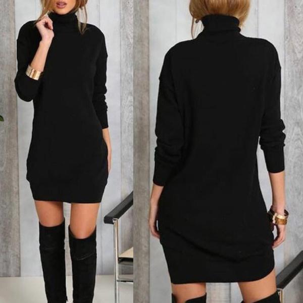 Mini, Fashion, sleeve dress, Winter