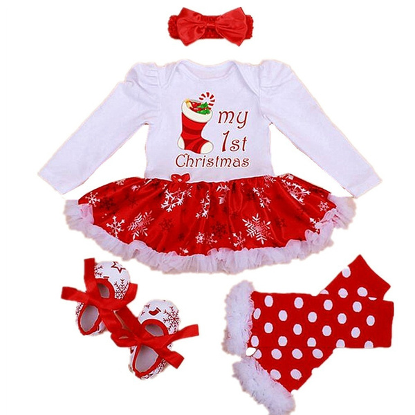 babyheadbandshoesset, Long Sleeve, Dress, Outfits