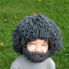 wig, Funny, beardedhat, Fashion