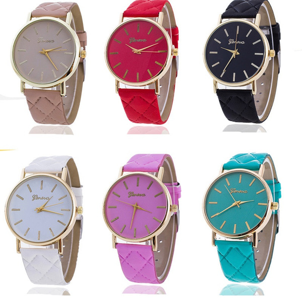 quartz, Christmas, leather, fashion watch
