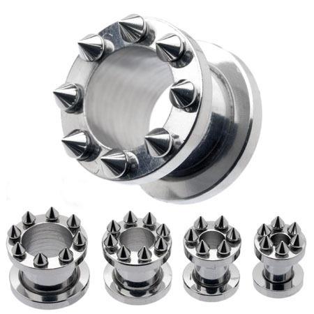 Steel, screw, earplug, earpiercing