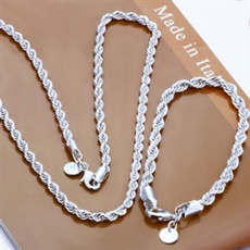Sterling, Rope, Chain Necklace, Men  Necklace