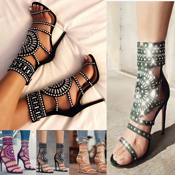 Summer Fashion Women Sexy Ankle Strap