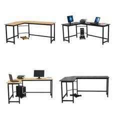 lshapeddesk, Office, Wooden, Laptop