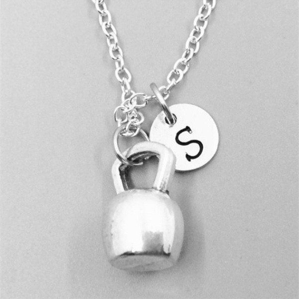 Jewelry, kettlebellchain, Gifts, fitnessnecklace