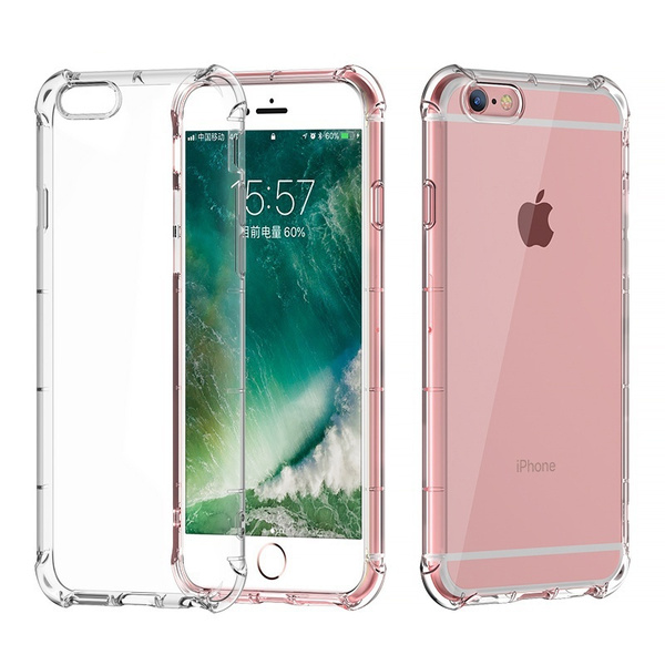 Shockproof 360 TPU Silicone Protection Transparent Clear Case Cover For Iphone 6 6S Plus 7 7 Plus iphone 8 iphone 8 plus X | Wish