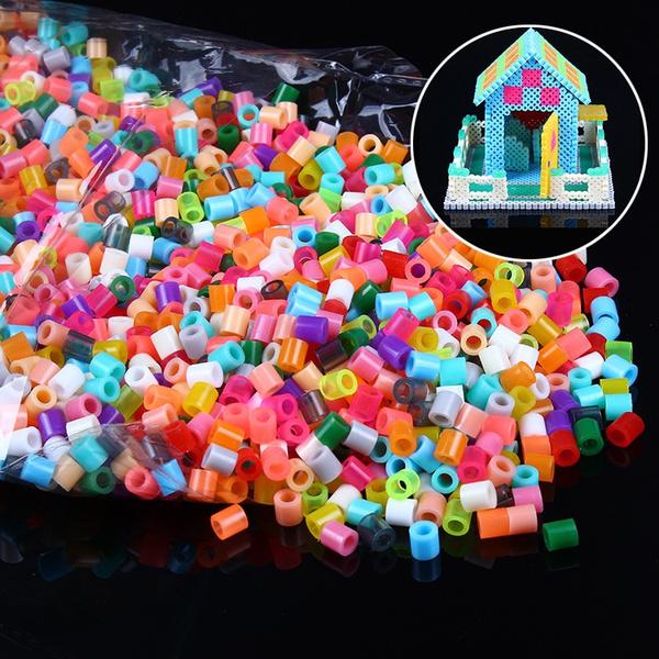 kidsbabycolorfularoundbeadstoy, kidscraft, hamabead, 1000pcsperlerbead