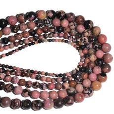 pink, roundbead, diybracelet, Handmade
