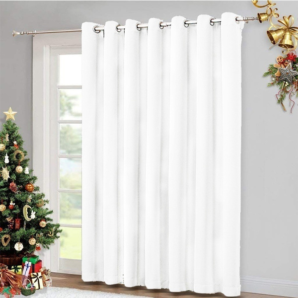 1panel Sliding Glass Door Curtains, What Size Curtains For Sliding Glass Doors