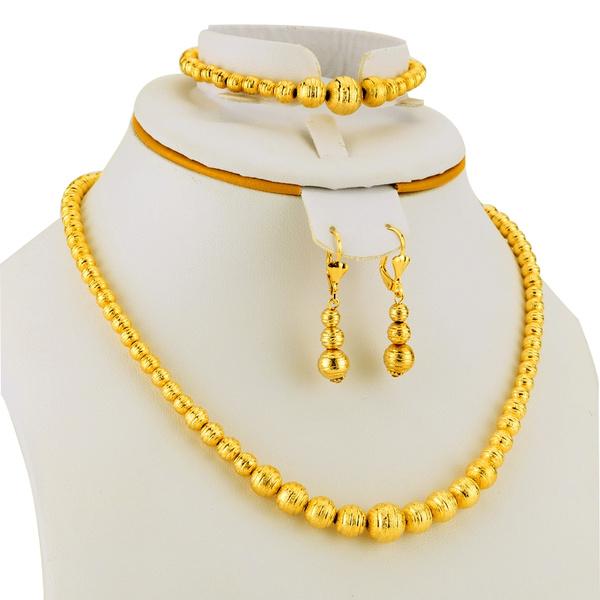 goldplated, 24kgoldplatedjewelryset, Fashion, Jewelry