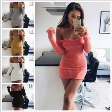 Mini, Strapless Dress, Slim Fit, boatneckdres