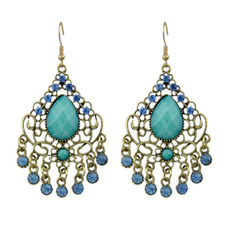 ethnicearring, Blues, turquoiseearring, Dangle Earring