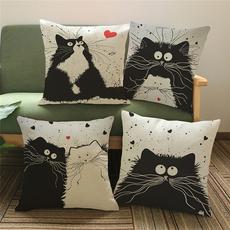 Home Decor, Office, cartooncat, Pillowcases