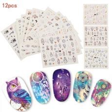 nail decoration, water, nail stickers, art