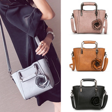 women's shoulder bags, Flowers, Tote Bag, leather