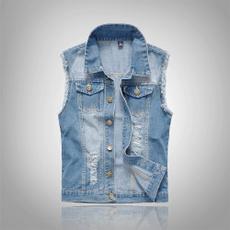 jeanscoat, Vest, Plus Size, Slim Fit