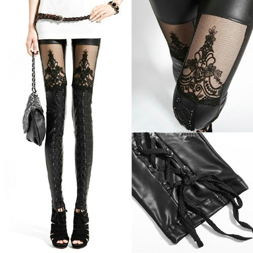 Goth, trousers, punk style, Punk Leggings