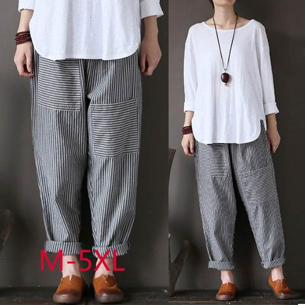 Women Pants, Plus Size, women trousers, Elastic